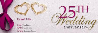 25 year wedding anniversary wording for wedding anniversary online invitations yoovite 25