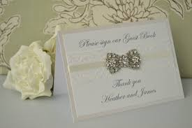 personalized wedding guest books personalised wedding guest book sign vintage diamante bow design
