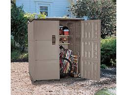 double deep modular vertical shed discontinued rubbermaid