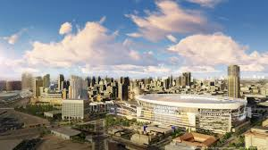 first look at proposed stadium and convention center los angeles first look at proposed stadium and convention center los angeles chargers