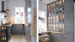 vitrine pour cuisine cuisine gris et bois en 50 modèles variés pour tous les goûts