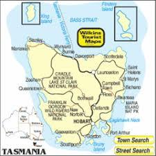 map of tasmania australia tasmania map tasmania australia mappery