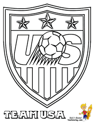 Soccer Coloring Sheets Fifa Usa Mls West Free American Soccer Coloring Page