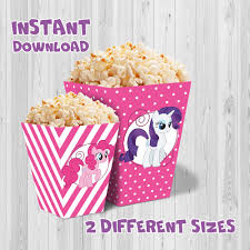 My Little Pony Party Centerpieces by My Little Pony Party Popcorn Box Pink Color Printable My