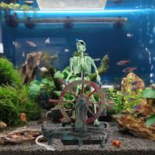aquarium decorations non toxic pirate captain aquarium decorations landscape skeleton on