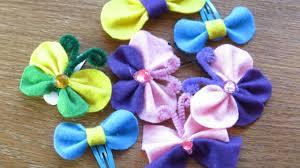 diy felt butterfly and bow hair clip how to make hair ornaments