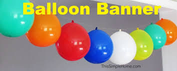 birthday decorations to make at home birthday balloon banner bold colors wide doorway make coriver