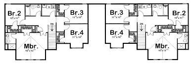 2 story multi family craftsman house plan ida