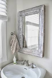 small bathroom mirror ideas bathroom ideas small rustic wood framed mirror white sink