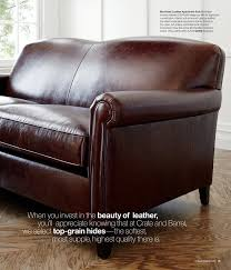 sofas amazing leather furniture pottery barn couches full grain