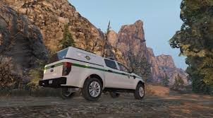 police truck 4k search and rescue us park ranger livery for ford ranger police