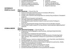 Chemistry Resume Example by Smart Ideas Samples Of Resumes 6 Free Resume Samples For Every