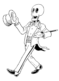 skeleton coloring pages pictures skeleton los