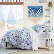 Teen Floral Bedding Kelly Slater Organic Ocean Floral Duvet Cover Sham Pbteen