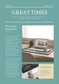 employee newsletter template free sample newsletter template