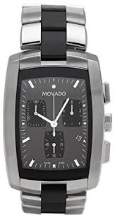 mens rubber bracelet watches images Movado men 39 s 605773 eliro black rubber and stainless jpg