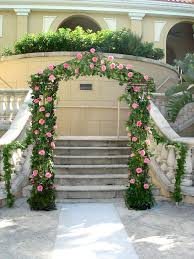 Wedding Arch Garden Garden Wedding Arch Covered With Ivy And Pink Roses Shades Of