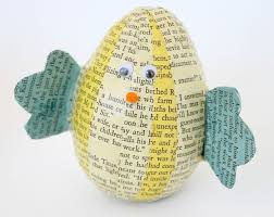Easter Decorations Chicks by Book Page Easter Egg Chicks Hometalk