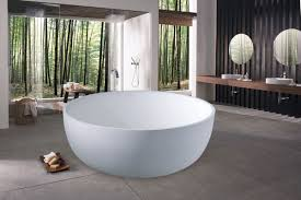 Stone Freestanding Bathtubs Great Freestanding Round Tub Furniture Simple Round White Stone