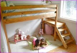 full size loft bed with stairs open travel