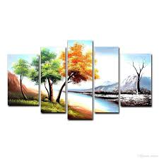 Home Decor Canvas Art Landscape Oil Painting Season Tree Painting Wall Art Home Decor