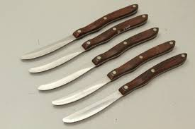 Cutco Kitchen Knives Lot Of 5 Cutco 59 Table Knives W Wood Handles Shopgoodwill