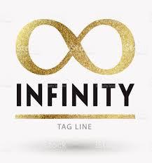infinity number infinity symbol in golden stock vector art 660659306 istock