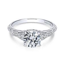 gold vintage engagement rings 18k white gold vintage inspired amavida diamond engagement ring