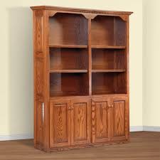 Wood Bookcase With Doors Bookcases Ideas Amish Bookcases Furniture In Solid Wood With
