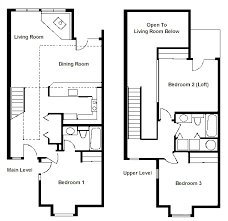 2 bedroom with loft house plans floor plan two bedroom loft rci id 1711 whispering woods