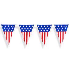 24 foot american usa flag pattern plastic pennant curtain