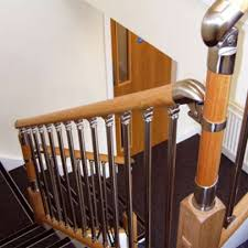 chrome banister rails fusion range of stair parts chrome brushed nickel