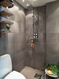 bathroom classy glass wall shower with glossy white flooring