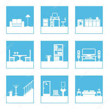 room icons u2014 stock vector mattasbestos 2077384