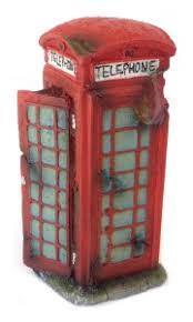 phone box fish tank ornament 8 x 9 5 x 18 5cm h the aquarium