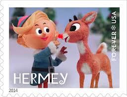 rudolph red nosed reindeer stamp unveiling soundbites roll