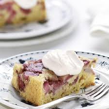 strawberry rhubarb upside down cake recipe eatingwell