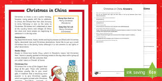 christmas china differentiated reading