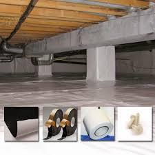 diy crawlspace encapsulation materials liners butyl tape