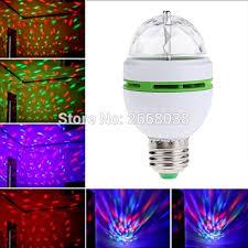 mini led e27 3w colorful auto rotating rgb led bulb magic ball