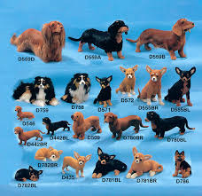 australian shepherd dachshund dog figurines that look like a real dog handmade with rabbit