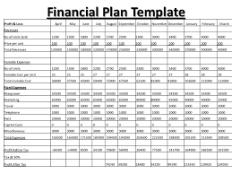 Financial Business Plan Template Excel 8 Financial Plan Templates Excel Excel Templates