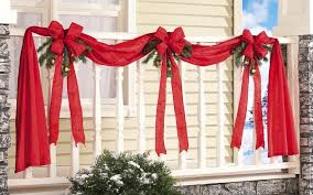 Fence Decorations Amazon Com Christmas Ribbon U0026 Bows Fence Decoration Holiday