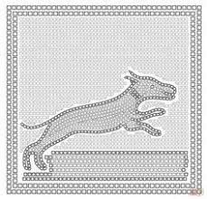 printable mosaic coloring pages for adults color by number
