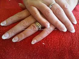 eye candy nails u0026 training rounded white tips with pink overlay
