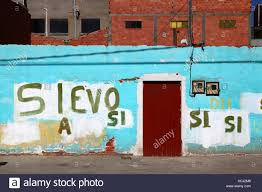 si e v o b si yes graffiti showing support for bolivian president evo morales