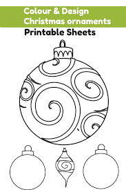 colour and design your own ornaments printables