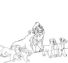 lion king coloring pages kiara
