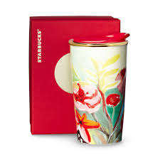 double wall traveler painted flowers 10 fl oz starbucks