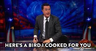 stephen colbert middle finger gif find on giphy